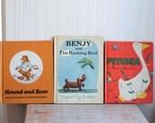 Vintage Kids Books, Benjy - Petunia-Hound and Bear, 1970s Weekly Reader, Childrens Books, Preschool - Elementary, Hardback