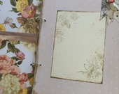 Pink Floral Vintage Theme Shabby Handmade Baby Girl Book, - Rustic Baby Girl - Cottage Chic - Ready to Ship