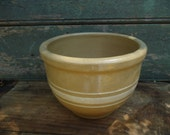 Antique Yellow Ware Mixing Bowl