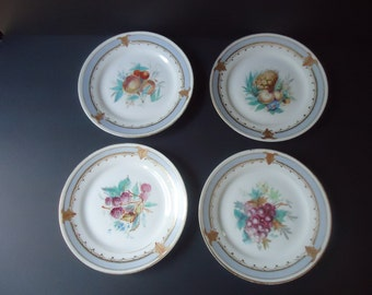 Antique Set of 4 French Dessert Plates