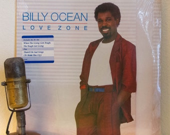 """ON SALE Billy Ocean Vinyl Record Albums LPs 1980s Pop Music MTV and Vh1 Hits """"Love Zone"""" (factory Sealed 1986 Arista w/""""When The Going Gets"""