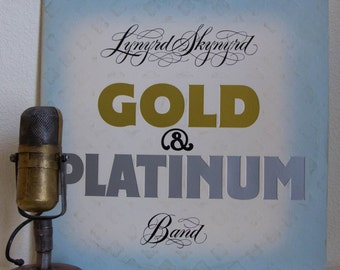 "ON SALE Lynyrd Skynyrd Vinyl Record 1970s Classic Rock and Roll ""Gold & Platinum"" (1979 2LP Mca w/ ""Freebird"", ""Simple Man"", ""Gimme Three St"