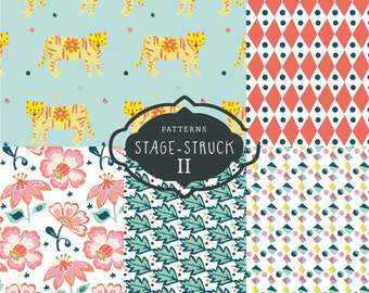 CLIP ART - Stage-Struck Pattern Collection II - for commercial and personal use