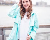 Monogrammed Personalized Rain Jacket, Full Zip Rain Jacket, All Weather Rain Jacket, Monogram Rain Jacket