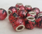 13 Firework Large 5 mm Hole  Beads fit European Jewelry - Only 1 available 1203