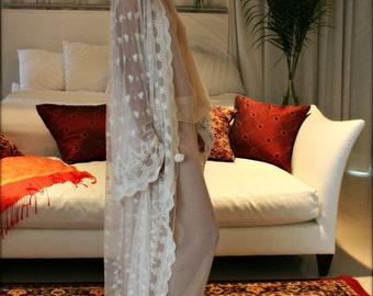 Embroidered Lace Bridal Robe French Lace Wedding Robe Bridal Lingerie Wedding Sleepwear Art Deco Lace Robe Wedding Trousseau Honeymoon Robe