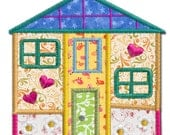 Cottage House 5 Applique Machine Embroidery Design Pattern-INSTANT DOWNLOAD