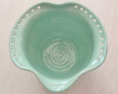 Earring Bowl Ceramic Pottery Jewelry Holder Handmade Pottery  Trinket Bowl Stoneware Turquoise  Pottery