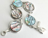 Custom Travel Map Bracelet / Wanderlust / Journey/ World Traveller / World Map / Mom Bracelet / Vacation Destination / Gift for Her / Custom