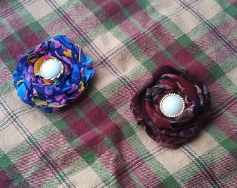 Pick Your Fabric Hair Flower
