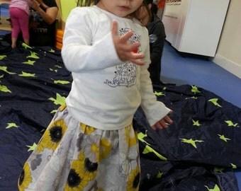 Yellow Sunflower skirt   Baby/Toddler Girl   6 months - 5T