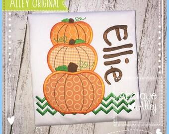 The Multi Pumpkin Stack Applique Design