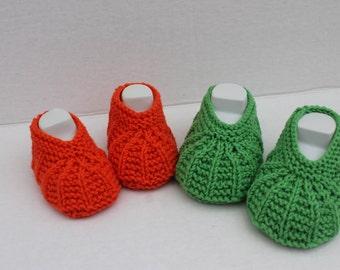 Instant Downlod Cotton Seamless Booties PDF Knitting Pattern