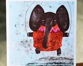 Elephant card // greeting card // sweet playing elephant illustration