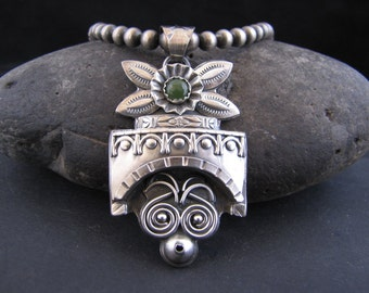 Mayan Mind Bender in Sterling Silver and Jade