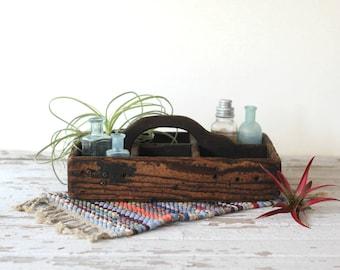vintage wood drawer, curiosity shelf, desk caddy, decorative storage