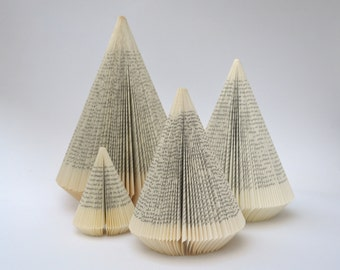 Christmas Tree: Folded Book Sculpture - altered Book