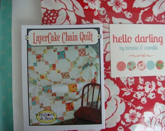 Layercake Chain Quilt Kit With Hello Darling fabric by Bonnie and Camille from Moda