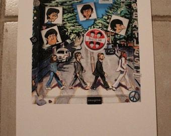 Abbey Road Shadow Box digital print