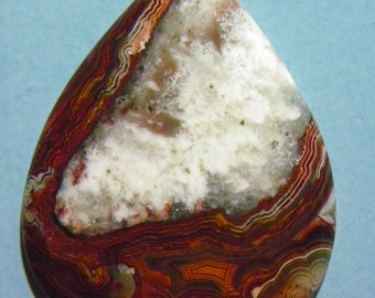 Reduced Red Crazy Lace Agate Designer Cabochon (D-067)