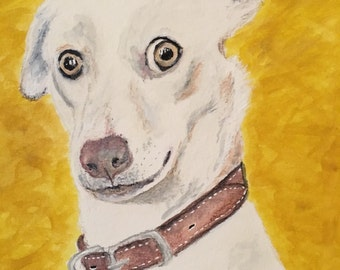 8x10 Watercolor portrait
