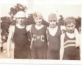 Kids in Bathing Suits - Vintage Photograph, Ephemera, Vernacular, Found Photos (A)