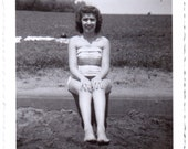 Vintage Photo - Bathing Suit Girl - Vintage Photographs, Vernacular, Snapshots, Ephemera (C)