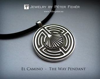El Camino – The Way Pendant, Silver pendant