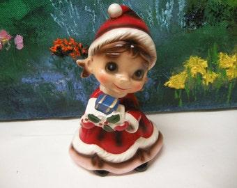 Vintage Josef Big Eyed Christmas Elf
