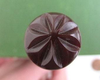 """6"""" Bakelite Hat Pin - Vintage Burgundy / Brown"""