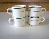 Four Vintage Buffalo China Restaurant Ware Cups
