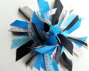 Ribbon Ponytail Streamer - Blue, Black, and Gray