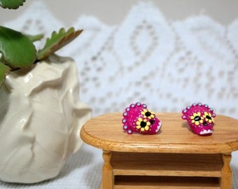 Sugar Skull Earrings//Studs