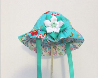 Reversible Baby Girls Sun Hat Sun Bonnet
