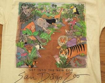 vintage San Diego zoo souvenir t shirt