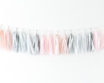 Tissue Tassel Garland Kit - Pink Quartz
