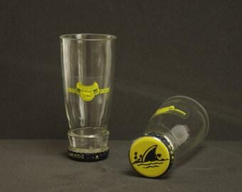 Landshark Beer Bottle Shot Glasses Set of 2
