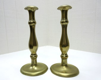 Vintage Brass Candle Holders With With Dents And Dings