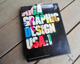 AIGA Graphic Design USA:1 ANNUAL 1 American Institute of Graphic Arts 1980 hardback book
