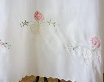 I Magnin & Company White Maxi Length Skirt Slip c. 1960 1970 New Old Stock Mint