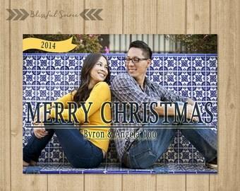 Custom Photo Christmas Card | Christmas Card | Merry Christmas | Holiday Card | DIY Printable | Custom Colors