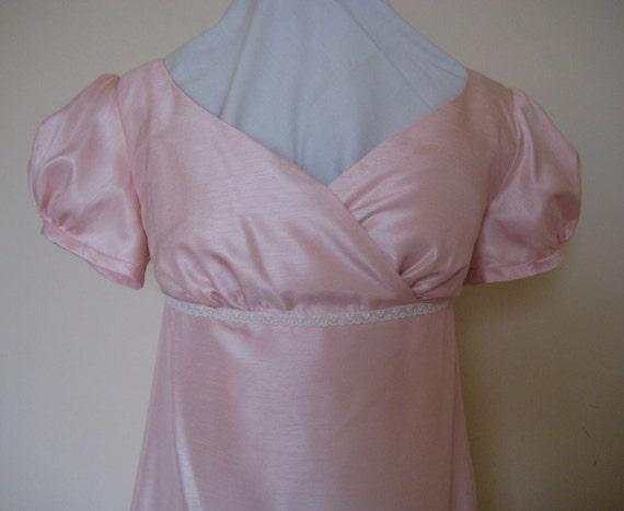 Regency Dress, Ball Gown. Jane Austen. CUSTOM MADE. Wrap front. Faux Silk Various Colours..