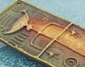 Artisan Focal #10...Rainbow patina bronze bird focal piece