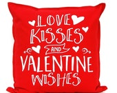 Valentine Decor - Valentine Pillow Cover - Red Pillow Cover - Love Pillow - Valentines Gift - Red Cushion Cover - Valentines Decoration