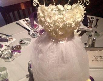 Doll -  Centerpieces -Wired Form- Bridal Showers- Birthday Parties- Sweet Sixteen -Quincinero  - Bat Mitzvah