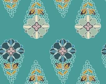 DESTASH SALE Krokos Sprites Teal -Art Gallery Fabrics premium quilting cotton fabric