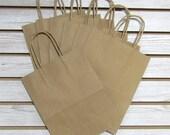 "8"" X 4"" X 10"" Kraft Paper Shopping Bag - 20 Pcs"