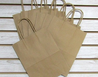 "8"" X 4"" X 10"" Kraft Paper Shopping Bag - 20 Pcs"