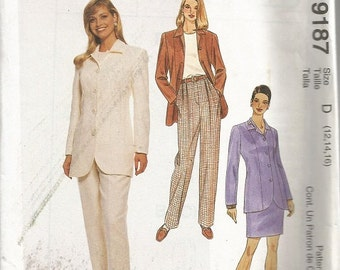 McCall's 9187  Misses Jacket, Pants, and Skirt Pattern SZ 12-16