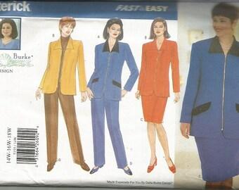 Butterick 5155 Delta Burke  Skirt, Pants and Jacket Pattern SZ 14W-18W